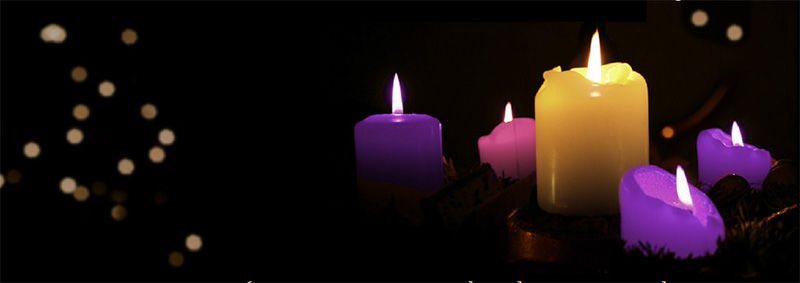 advent candles burning