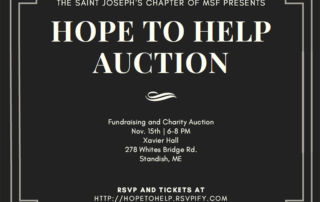 Invite to buy tickets for the Hope to Help auction